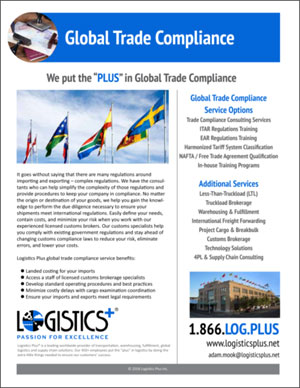 Global Trade Compliance Flyer