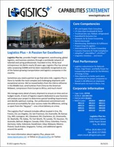 Logistics Plus Capabilities Statement