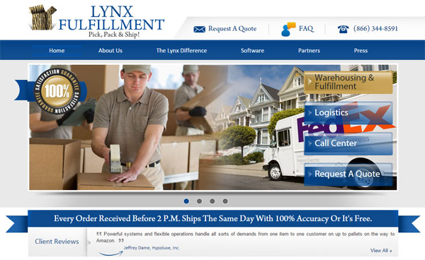 Lynx-Fulfillment-Home-Page