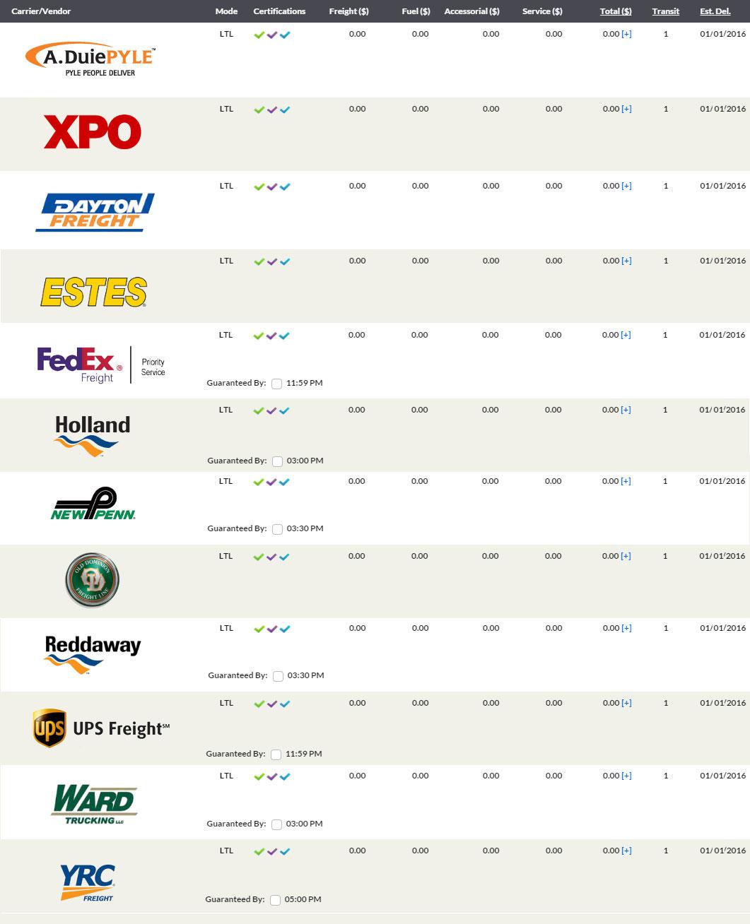 eShipPlus-Rate-Quote-Screen