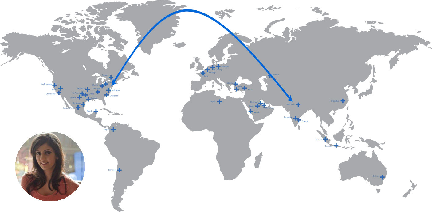 Usindia Trade Lane Development Logistics Plus - India-us-map
