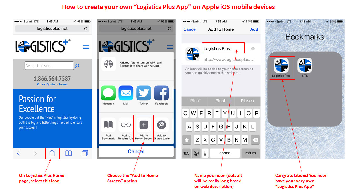 Create Your Own Logistics Plus Mobile App Logistics Plus