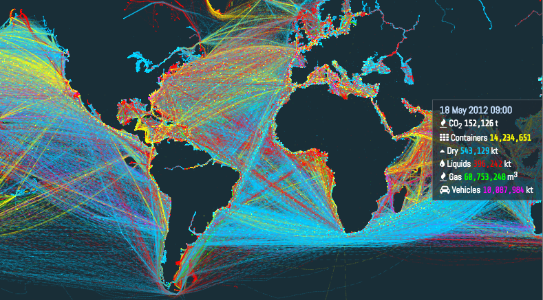 Visualization Of The World S Shipping Routes Logistics Plus
