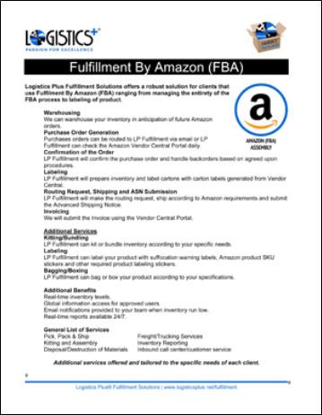 LP Fulfillment Amazon FBA flyer icon