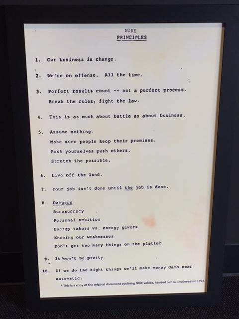 Nike Principles