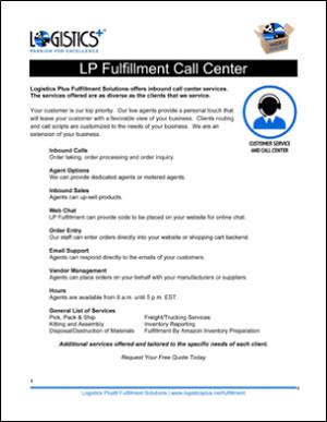 LP Fulfillment Call Center flyer icon