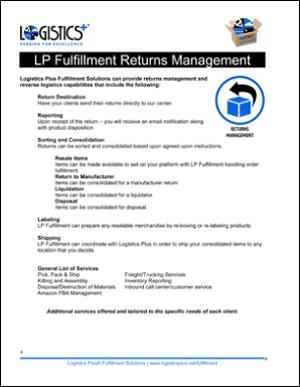 LP Fulfillment Returns Management flyer icon