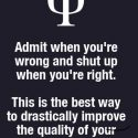 Admit when your wrong