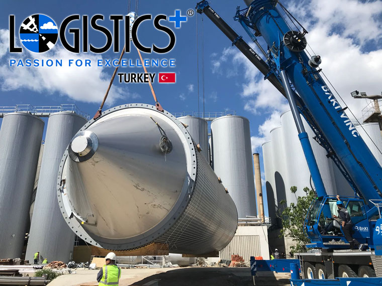 Logistics Plus Safely Delivers 13 Beer Tanks to Downtown Izmir