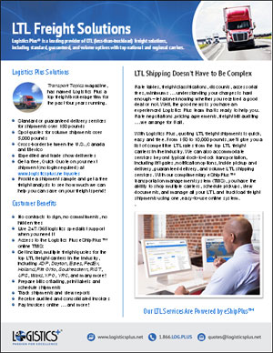 LP LTL Freight Flyer Thumbnail