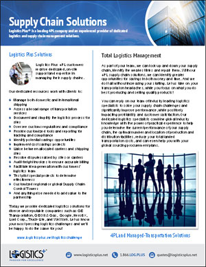 LP Supply Chain Solutions Flyer Thumbnail