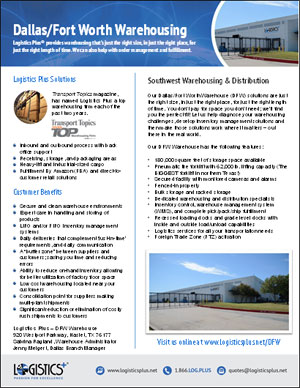 LP Warehousing-DFW Flyer Thumbnail