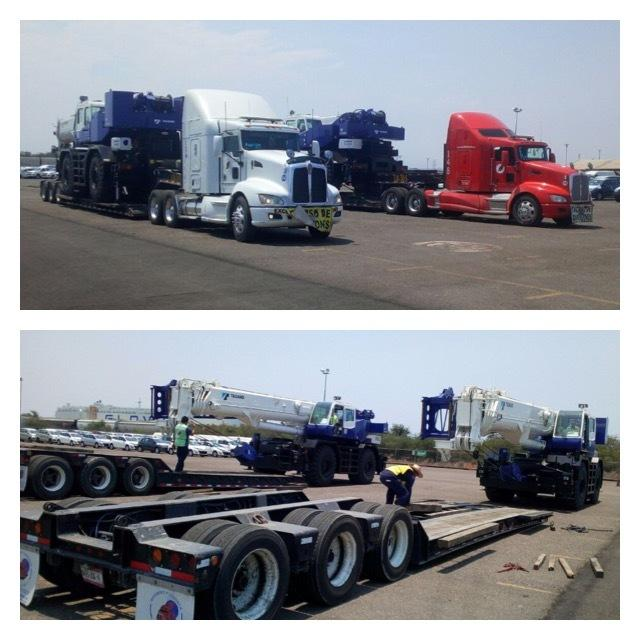 2 x Rough Terrain Crane Japan to Mexico City