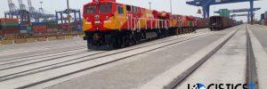 LP receiving 10 Units of GE Loco at Mundra port