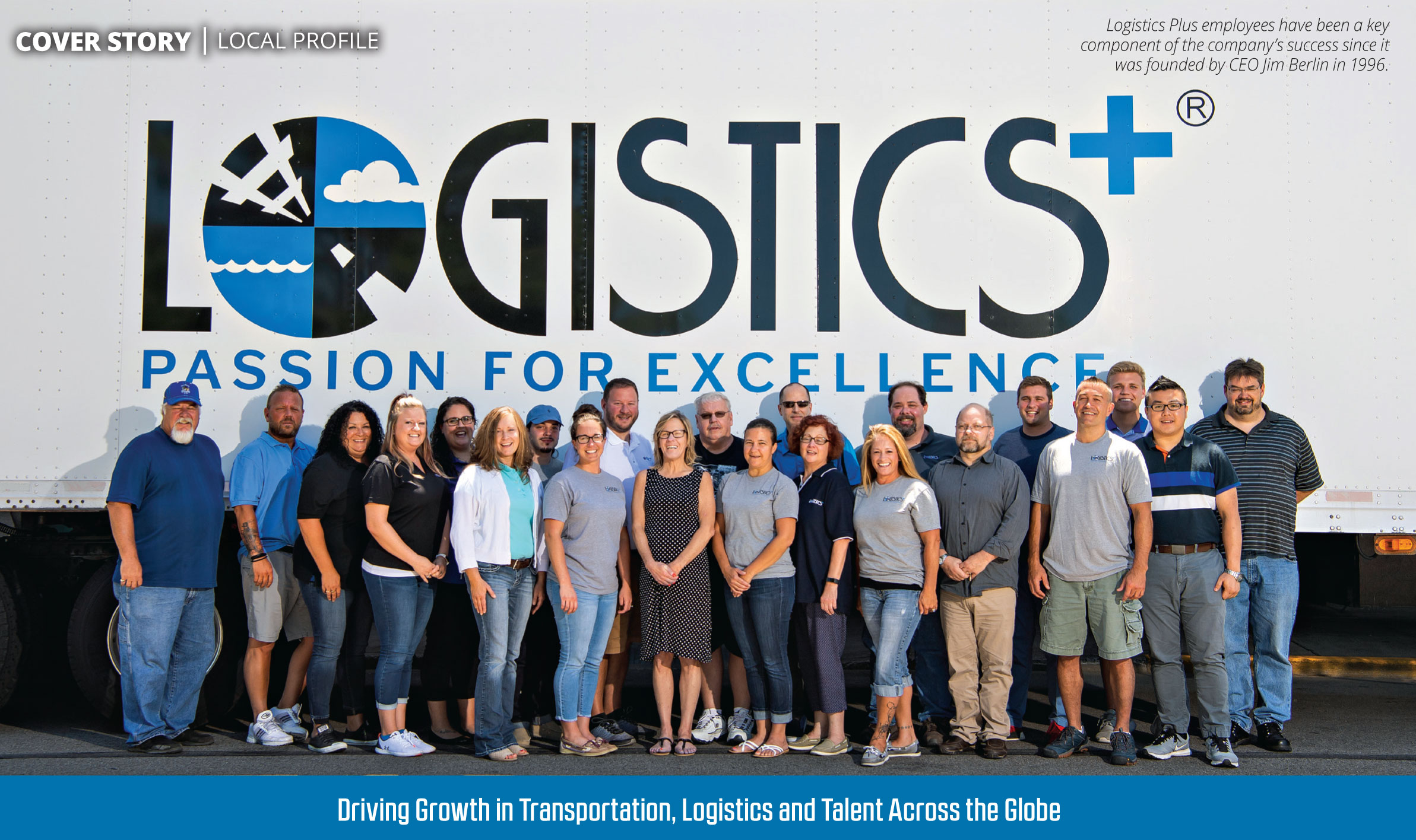 Logistics Plus featured in the September 2018 edition of Business Magazine