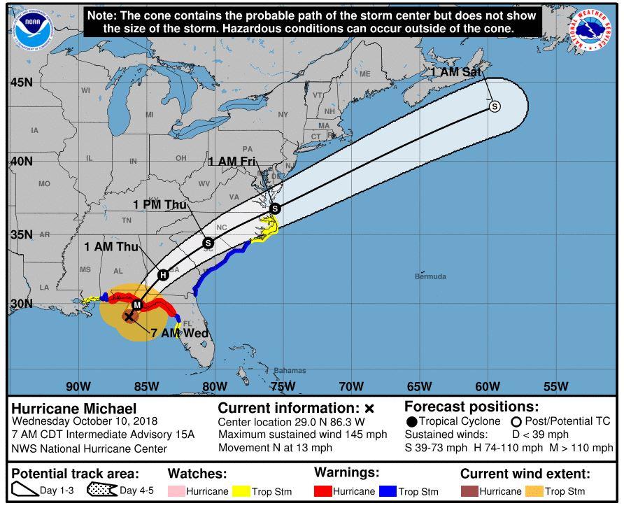 Hurricane Michael Service Alert