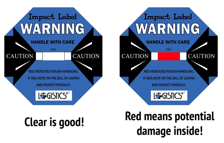 Impact Labels Alert Potential Concealed Damage