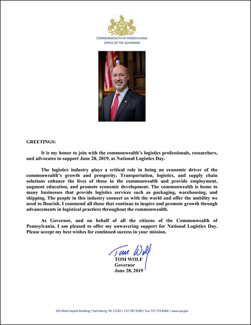 Tom Wolf PA Governor Letter Thumbnail