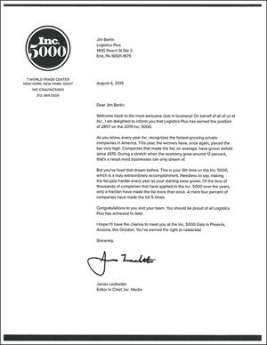 Inc 5000 2019 Letter Thumbnail