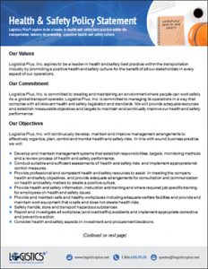 LP Health & Safety Policy Statement Flyer thumbnail
