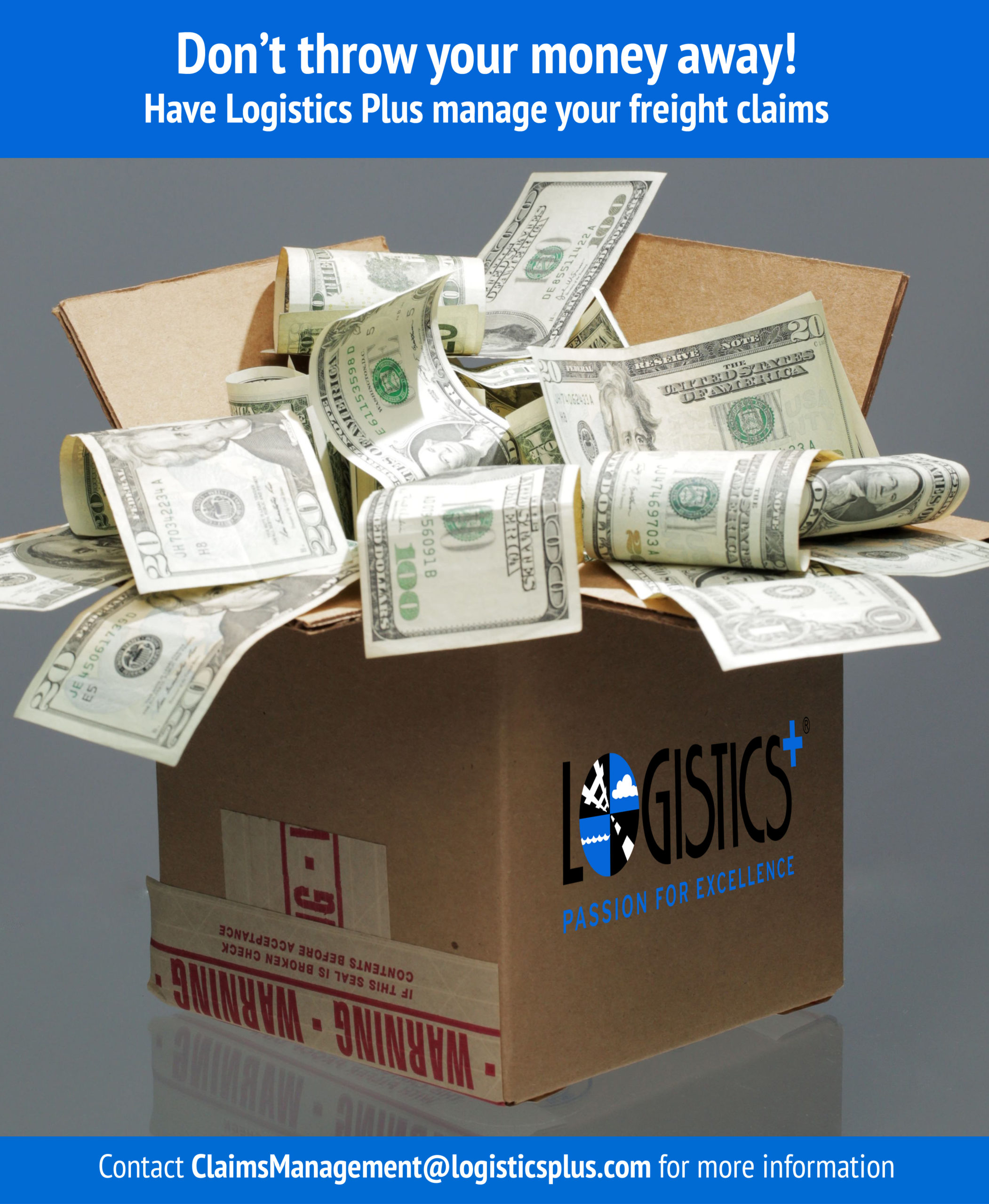 Don't throw money away - Freight Claims Management