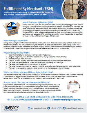 LP FBM Fulfillment by Merchant Flyer Thumbnail