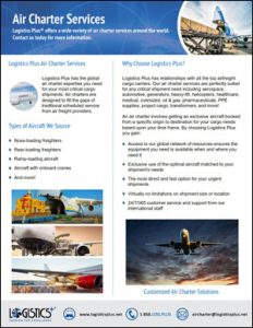 air charter services flyer