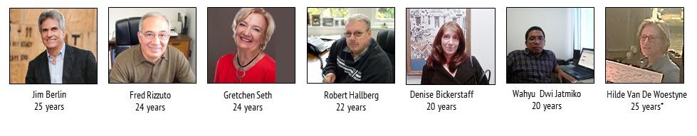 20-25 Year Tenures