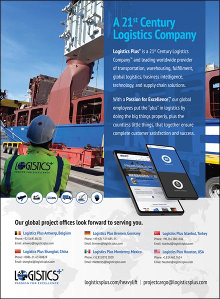 Heavy Lift and Project Forwarding International magazine ad
