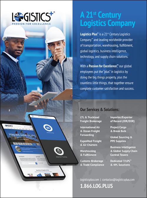 Logistics Plus 2021 Logistics Planner Ad